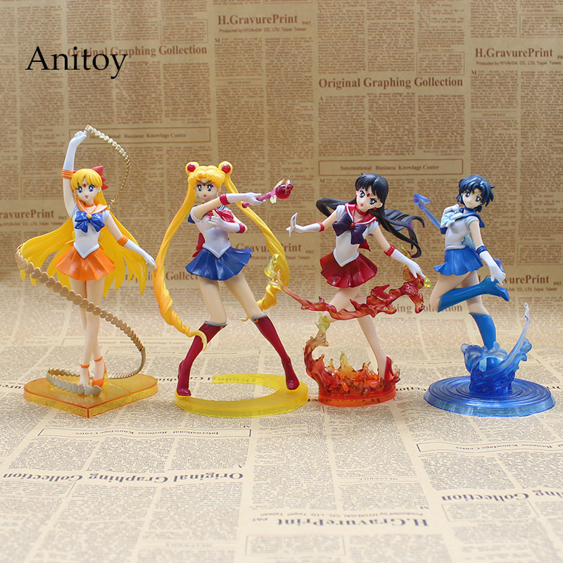 Anime Figuarts Sıfır Sailor Moon 20th anniversary Sailor Moon Mars Venüs Mercury PVC Action Figure Koleksiyon Model Oyuncak