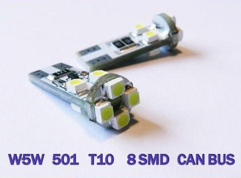 W5W T10 501 8 SMD LED SIDELIGHT İÇ CAN BUS OBC HATASIZ ampuller