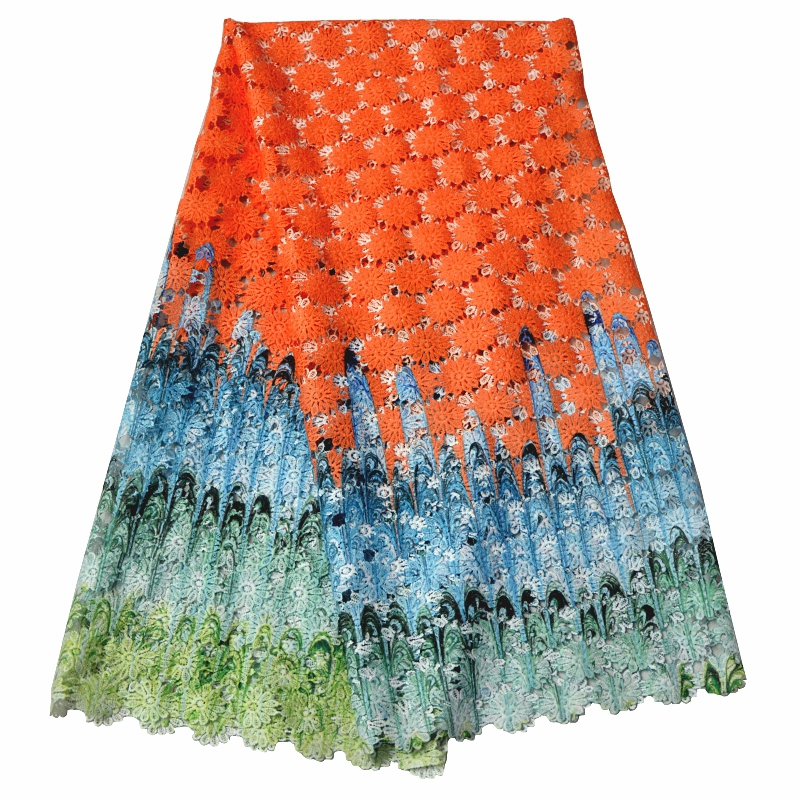 NEW Embroidery African print Cord Laces Tulle Guipure Lace Fabric For Nigerian Wedding Dresses 5Y/Lot