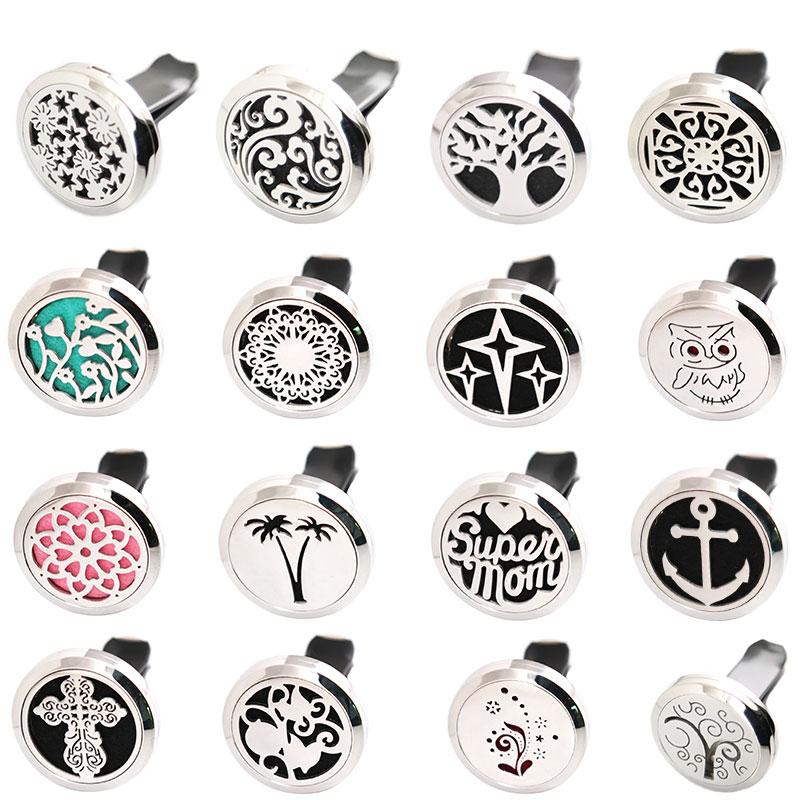10pcs Butterfly 30mm Diffuser 316 Stainless Steel Car Aroma Locket Essential Oil Car Diffuser Locket Free 50Pcs Pads