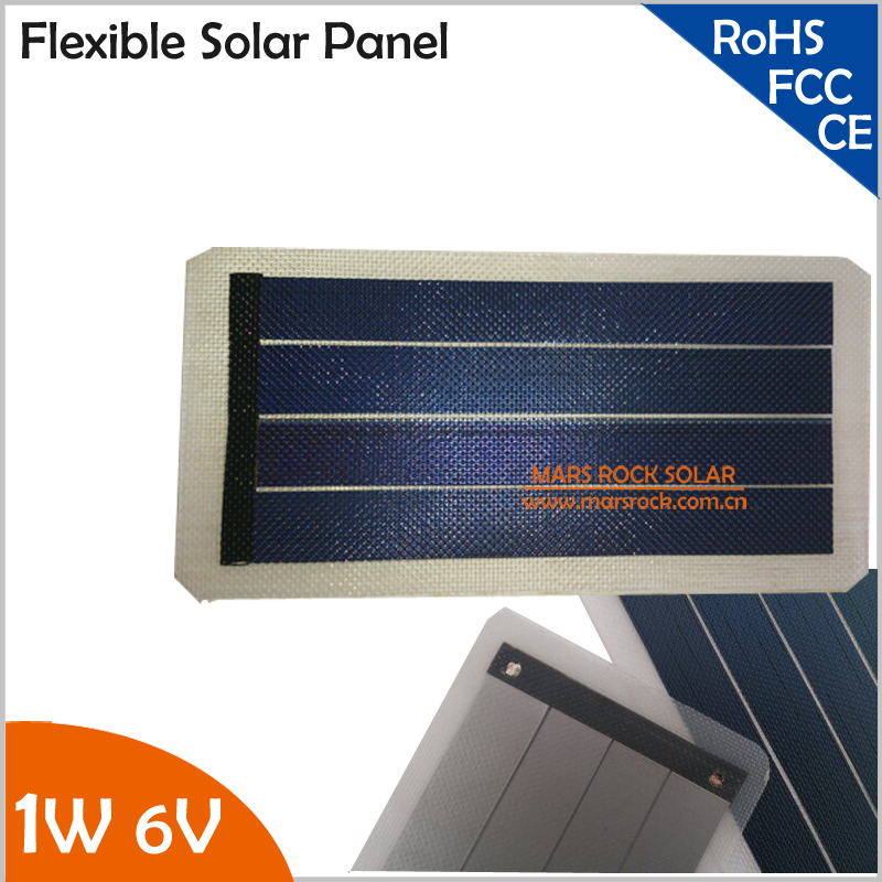 1W 6V high efficiency small transparent flexible solar panel for DIY